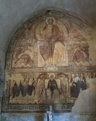 Ancienne abbaye Saint-André-de-Lavaudieu - Fresque du réfectoire de l'abbaye Saint-André de Lavaudieu.