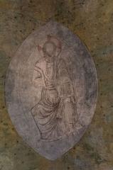 Eglise abbatiale - Français:   Fresques de la nef de l\'abbatiale Saint-André de Lavaudieu.