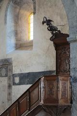 Eglise abbatiale - Français:   Chaire de l\'abbatiale Saint-André de Lavaudieu.