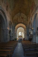 Eglise abbatiale - Français:   Nef de l\'abbatiale Saint-André de Lavaudieu.