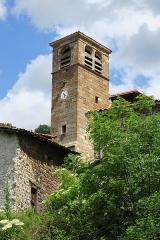 Ancienne abbaye de Pébrac - English: Abbey of Pébrac. Bell tower.