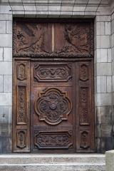 Baptistère Saint-Jean - English:   Doorway of the Baptistery St. John.