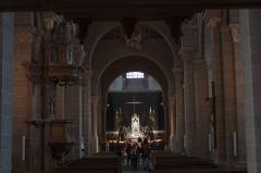 Cathédrale Notre-Dame et ses dépendances - English:  Nave of the cathedral.