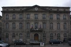 Hôtel de ville - English:  City Hall, designed by the architect J.C. Portal, end of 18th c.