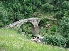 Vieux Pont dit Pont du Diable - English: Saint-André-de-Chalancon, l'Ance, pont du diable