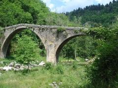 Vieux Pont dit Pont du Diable - English: Saint-André-de-Chalancon, pont du diable sur l'Ance