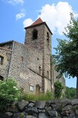 Eglise Saint-Loup - English: Saint-Arcons-d'Allier (Haute-Loire, France). Church of Saint Lupus. South facade.