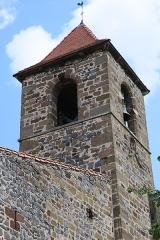 Eglise Saint-Loup - English: Saint-Arcons-d'Allier (Haute-Loire, France). Church of Saint Lupus. Bell tower.