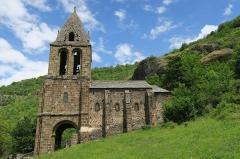 Chapelle Sainte-Marie-des-Chazes - English: Chapel of Sainte-Marie-des-Chazes, town of Saint-Julien-des-Chazes, France. South facade.