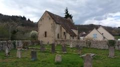Ancienne église Saint-Pardoux -  Cimetière de Frontenat et église Saint-Pardoux d'Archignat.