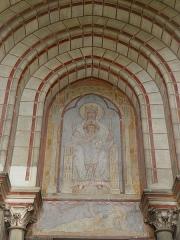 Cathédrale Notre-Dame - Français:   Cathédrale Notre-Dame de l\'Annonciation de Moulins (03). Façade occidentale. Tympan du portail gauche.