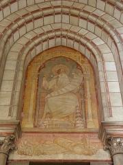 Cathédrale Notre-Dame - Français:   Cathédrale Notre-Dame de l\'Annonciation de Moulins (03). Façade occidentale. Tympan du portail droit.