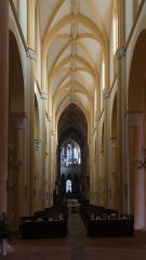 Prieuré bénédictin de Souvigny -  The hight vessel of the nave of the Church Saint Peter and Saint Paul of the Souvigny's priory, recently restored.