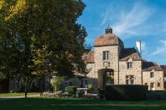 """Prieuré bénédictin de Souvigny -  The """"Porterie"""",  gatehouse views from the gardens. The building now houses artist workshops."""