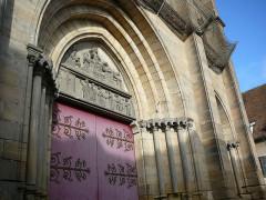 Eglise du Sacré-Coeur - English: Main door