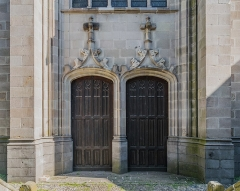 Abbatiale Saint-Géraud - English: Portal of the Saint Gerald abbey church of Aurillac, Cantal, France