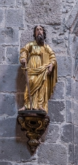 Abbatiale Saint-Géraud - English: Statue in the Saint Gerald abbey church of Aurillac, Cantal, France