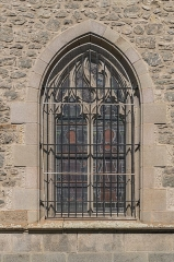 Abbatiale Saint-Géraud - English: Window of the Saint Gerald abbey church of Aurillac, Cantal, France