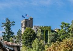 Ancien château fort Saint-Etienne - English:   View if the Saint Stephen Castle from place Saint-Géraud in Aurillac, Cantal, France