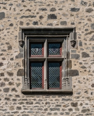 Maison consulaire - English: Window of the Consular House of Aurillac, Cantal, France