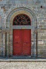 Maison - English: Portal of the Saint Gerald abbey hospital  in Aurillac, Cantal, France