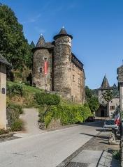 Château fort de Vieillevie - English: Castle of Vieillevie, Cantal, France