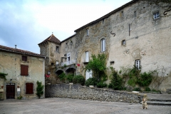 Ancien prieuré et remparts -  Camon, Ariège (Midi-Pyrénées) - L'ancienne abbaye