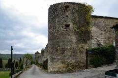 Ancien prieuré et remparts -  Camon, Ariège (Midi-Pyrénées) - Les remparts nord de la Cité