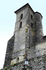 Ancien prieuré et remparts -  Camon, Ariège (Midi-Pyrénées) - La tour carrée des remparts située au milieu des remparts Nord de la Cité.
