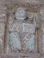 Chapelle du Calvaire ou église Saint-Pierre - Français:   Sculpture représentant Saint-Pierre dans une niche de l\'église de Castillon.