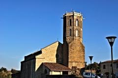 Eglise du Saint-Sacrement - Français:   Vue d\'ensemble de l\'église du Saint-Sacrement de Laroque-d\'Olmes.