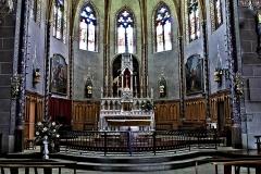 Eglise du Saint-Sacrement -  Laroque-d'Olmes, Ariège - Chœur de l'église du Saint-Sacrement