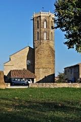 Eglise du Saint-Sacrement -  Vue d'ensemble de l'église du Saint-Sacrement de Laroque-d'Olmes (Ariège)