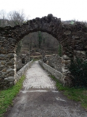Pont du Diable sur l'Ariège, près de Mercus-Carrabet - This building is indexed in the Base Mérimée, a database of architectural heritage maintained by the French Ministry of Culture,under the reference PA00093891 .