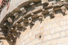 Ancienne cathédrale et cloître -  Modillions of the chevet of the Cathedral.
