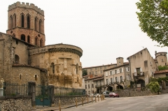Ancienne cathédrale et cloître -  Chevet of the former cathedral St. Lizier.