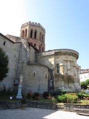 Ancienne cathédrale et cloître - Chevet de l'ancienne cathédrale de Saint-Lizier.