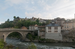 Pont -   Saint-Lizier, seen from the Salat\'s valley