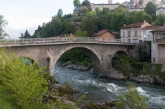 Pont -  Regard to the bridge of Saint Lizier.