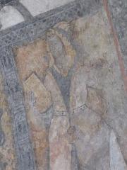 Eglise Notre-Dame - Français:   Peinture de l\'église Notre-Dame de Sentein: une sibylle.