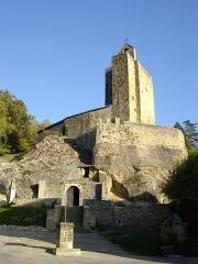 Eglise Notre-Dame et croix de pierre -  Église Sainte-Marie de Vals