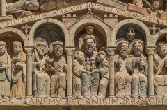 Ancienne abbaye Sainte-Foy - English: Tympanum of the Saint Faith Abbey Church of Conques, Aveyron, France        This place is a UNESCO World Heritage Site, listed as Chemins de Saint-Jacques-de-Compostelle en France.  العربية | Asturianu | Беларуская | Беларуская (тарашкевіца) | বাংলা | Català | Čeština | Dansk | Deutsch | English | Español | Euskara | فارسی | Français | עברית | Hrvatski | Magyar | Italiano | 日本語 | 한국어 | Latviešu | Македонски | മലയാളം | مازِرونی | Nederlands | Polski | Português | Русский | Slovenčina | Slovenščina | Türkçe | Українська | Tagalog | Tiếng Việt | 中文(简体) | 中文(繁體) | +/−          This building is classé au titre des Monuments Historiques. It is indexed in the Base Mérimée, a database of architectural heritage maintained by the French Ministry of Culture, under the reference PA00093999 .  বাংলা | brezhoneg | català | Deutsch | Ελληνικά | English | Esperanto | español | euskara | suomi | français | magyar | italiano | 日本語 | македонски | Nederlands | português | português do Brasil | română | русский | sicilianu | svenska | українська | +/−