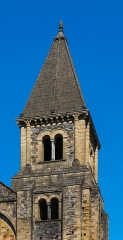 Ancienne abbaye Sainte-Foy - English: Tower of the Saint Faith Abbey Church of Conques, Aveyron, France        This place is a UNESCO World Heritage Site, listed as Chemins de Saint-Jacques-de-Compostelle en France.  العربية | Asturianu | Беларуская | Беларуская (тарашкевіца) | বাংলা | Català | Čeština | Dansk | Deutsch | English | Español | Euskara | فارسی | Français | עברית | Hrvatski | Magyar | Italiano | 日本語 | 한국어 | Latviešu | Македонски | മലയാളം | مازِرونی | Nederlands | Polski | Português | Русский | Slovenčina | Slovenščina | Türkçe | Українська | Tagalog | Tiếng Việt | 中文(简体) | 中文(繁體) | +/−          This building is classé au titre des Monuments Historiques. It is indexed in the Base Mérimée, a database of architectural heritage maintained by the French Ministry of Culture, under the reference PA00093999 .  বাংলা | brezhoneg | català | Deutsch | Ελληνικά | English | Esperanto | español | euskara | suomi | français | magyar | italiano | 日本語 | македонски | Nederlands | português | português do Brasil | română | русский | sicilianu | svenska | українська | +/−