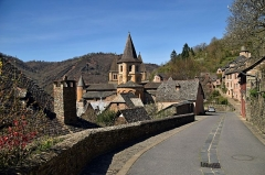 Ancienne abbaye Sainte-Foy - English: Abbaye Sainte-Foy de Conques, Aveyron, France