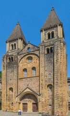 Ancienne abbaye Sainte-Foy - English: West facade of the Saint Faith Abbey Church of Conques, Aveyron, France        This place is a UNESCO World Heritage Site, listed as Chemins de Saint-Jacques-de-Compostelle en France.  العربية | Asturianu | Беларуская | Беларуская (тарашкевіца) | বাংলা | Català | Čeština | Dansk | Deutsch | English | Español | Euskara | فارسی | Français | עברית | Hrvatski | Magyar | Italiano | 日本語 | 한국어 | Latviešu | Македонски | മലയാളം | مازِرونی | Nederlands | Polski | Português | Русский | Slovenčina | Slovenščina | Türkçe | Українська | Tagalog | Tiếng Việt | 中文(简体) | 中文(繁體) | +/−          This building is classé au titre des Monuments Historiques. It is indexed in the Base Mérimée, a database of architectural heritage maintained by the French Ministry of Culture, under the reference PA00093999 .  বাংলা | brezhoneg | català | Deutsch | Ελληνικά | English | Esperanto | español | euskara | suomi | français | magyar | italiano | 日本語 | македонски | Nederlands | português | português do Brasil | română | русский | sicilianu | svenska | українська | +/−