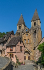 Ancienne abbaye Sainte-Foy - English: View of the Saint Faith Abbey Church from Rue Gonzague Florens in Conques, Aveyron, France        This place is a UNESCO World Heritage Site, listed as Chemins de Saint-Jacques-de-Compostelle en France.  العربية | Asturianu | Беларуская | Беларуская (тарашкевіца) | বাংলা | Català | Čeština | Dansk | Deutsch | English | Español | Euskara | فارسی | Français | עברית | Hrvatski | Magyar | Italiano | 日本語 | 한국어 | Latviešu | Македонски | മലയാളം | مازِرونی | Nederlands | Polski | Português | Русский | Slovenčina | Slovenščina | Türkçe | Українська | Tagalog | Tiếng Việt | 中文(简体) | 中文(繁體) | +/−          This building is classé au titre des Monuments Historiques. It is indexed in the Base Mérimée, a database of architectural heritage maintained by the French Ministry of Culture, under the reference PA00093999 .  বাংলা | brezhoneg | català | Deutsch | Ελληνικά | English | Esperanto | español | euskara | suomi | français | magyar | italiano | 日本語 | македонски | Nederlands | português | português do Brasil | română | русский | sicilianu | svenska | українська | +/−