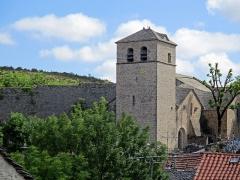Eglise et ancien cimetière - Français:   Église Saint-Christol de La Couvertoirade, Aveyron, France