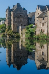 Ancien palais de justice - English: Former palace of justice in Espalion, Aveyron, France