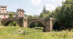 Vieux pont de Saint-Maurice-de-Sorgues -  Old Bridge seen from the bank of the Sorgue, down stream.