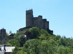 Vestiges du château et sa deuxième enceinte - Vue sur le château de Najac depuis la rue du Bariou